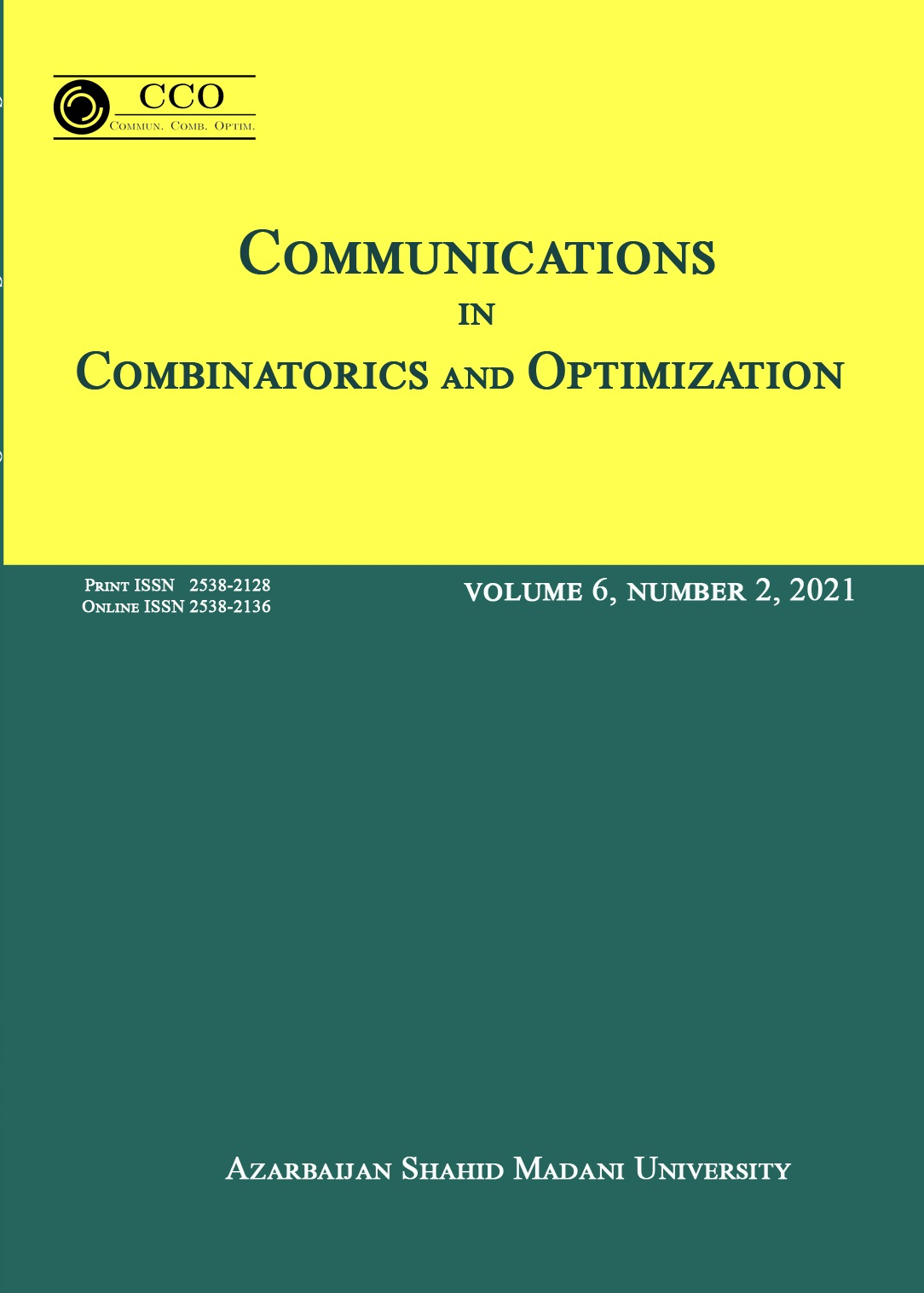 Communications in Combinatorics and Optimization