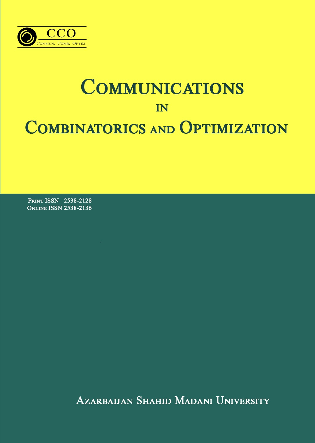 Communications in Combinatorics and Optimization